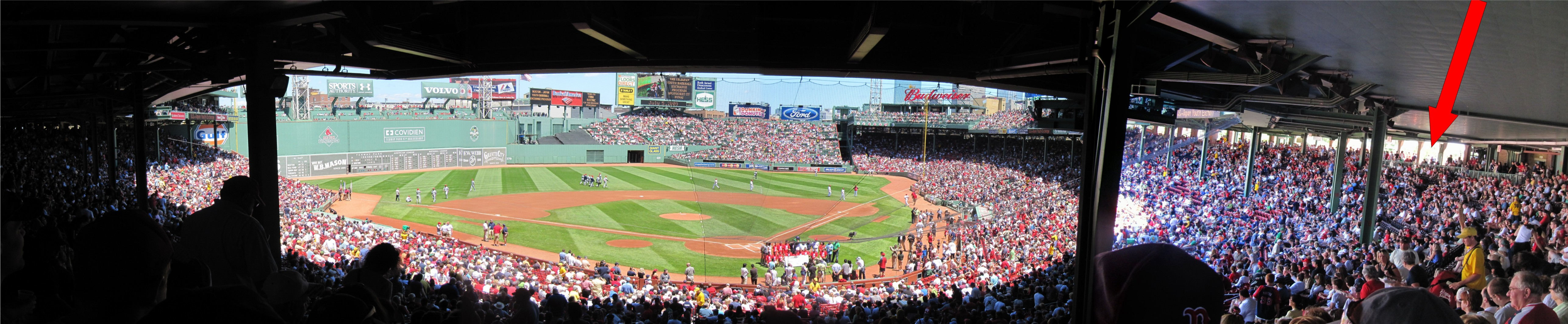 Fenway Park Standing Room Only Behind Section 13 Left And 12 Right Panorama