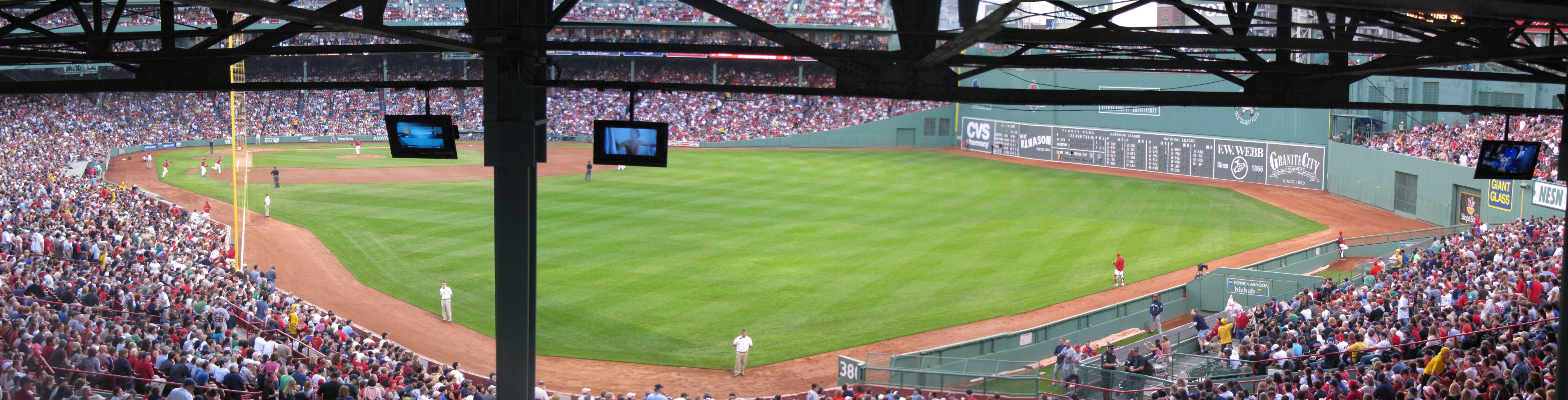 Fenway Park Standing Room Only Behind Section 5 Left And 4 Rightpanorama